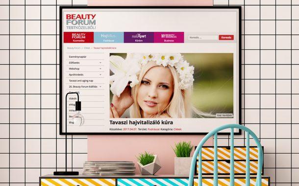 weblapfejlesztés és online marketing kampány a Beauty Forum részére
