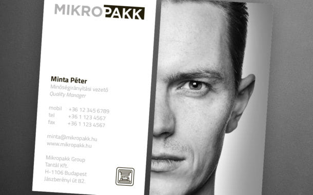 Mikropakk arculattervezés névjegy