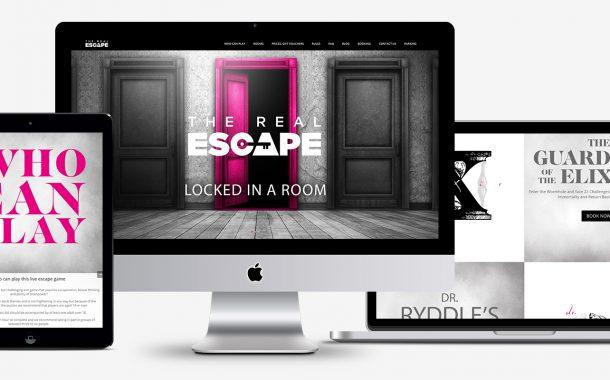 The Real Escape honlaptervezés és webdesign