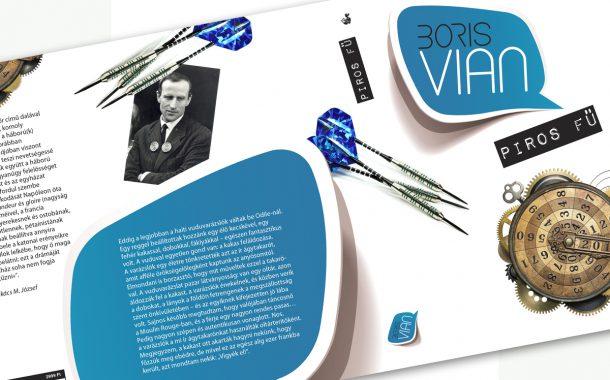 Kiadványtervezés: Boris Vian: Piros fű