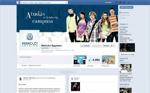 A Miskolci Egyetem arculatfejlesztése a közösségi médiában