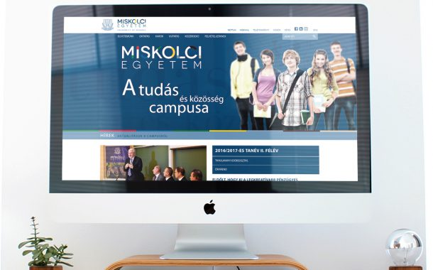 Arculatfejlesztés és webdesign a Miskolci Egyetem számára