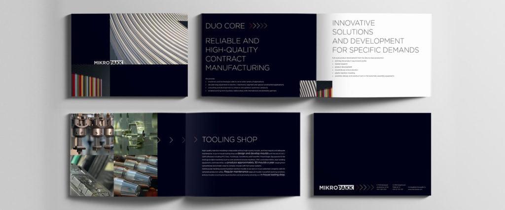 Kiadványtervezés: Mikropakk brosúra