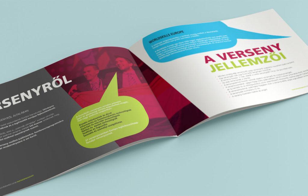 Kiadványtervezés: EuroSkills brosúra