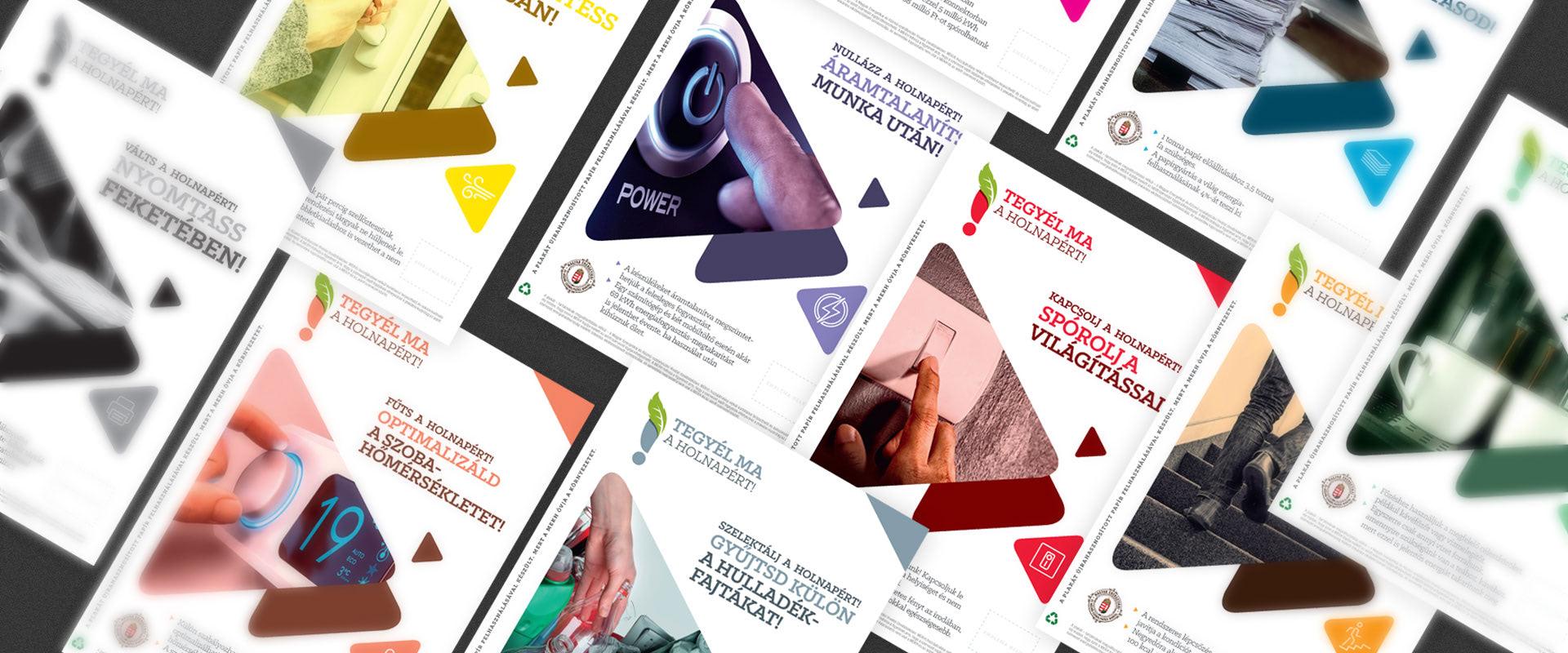Arculattervezés: a MEKH energiahatékonysági kampány plakátai