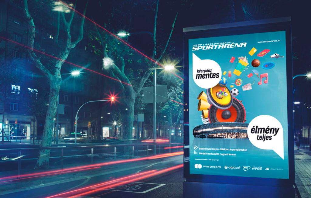 Sportaréna plakáttervezés citylight