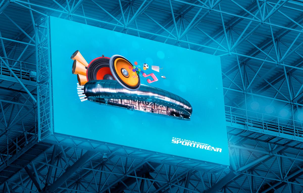 Sportaréna plakáttervezés