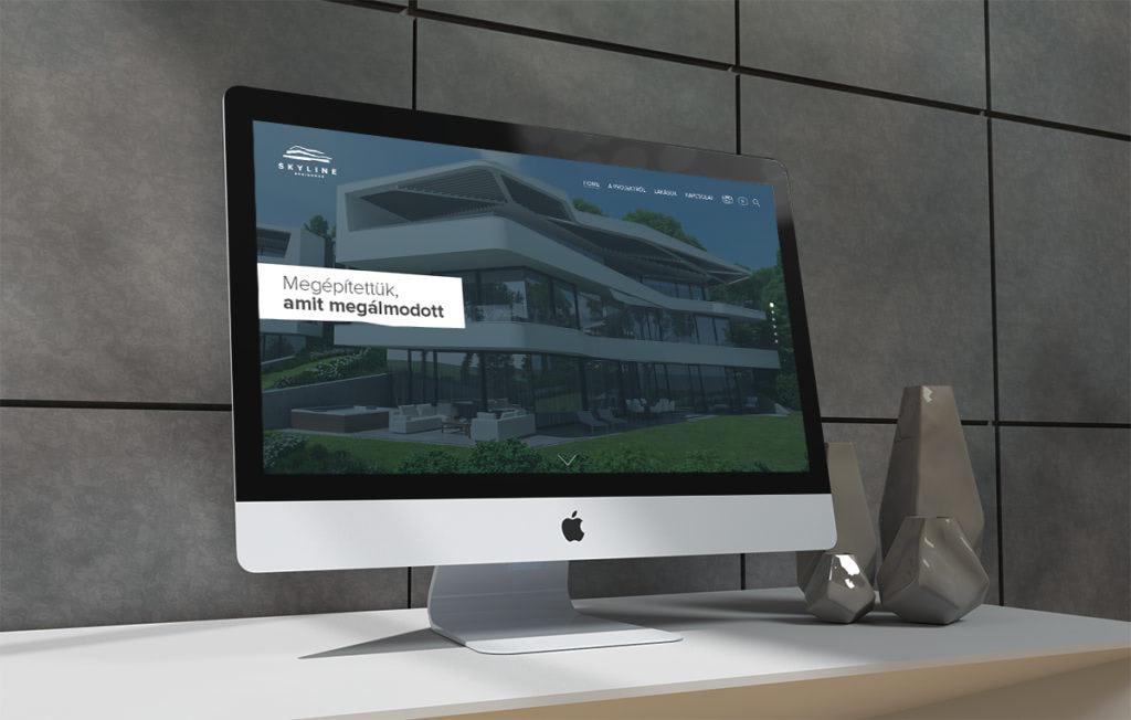 Skyline Residence arculattervezés, webdesign, honlapfejlesztés