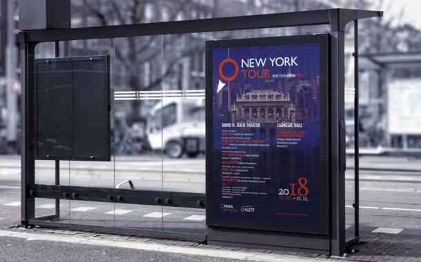 Opera New York-i turné citylight plakáttervezés