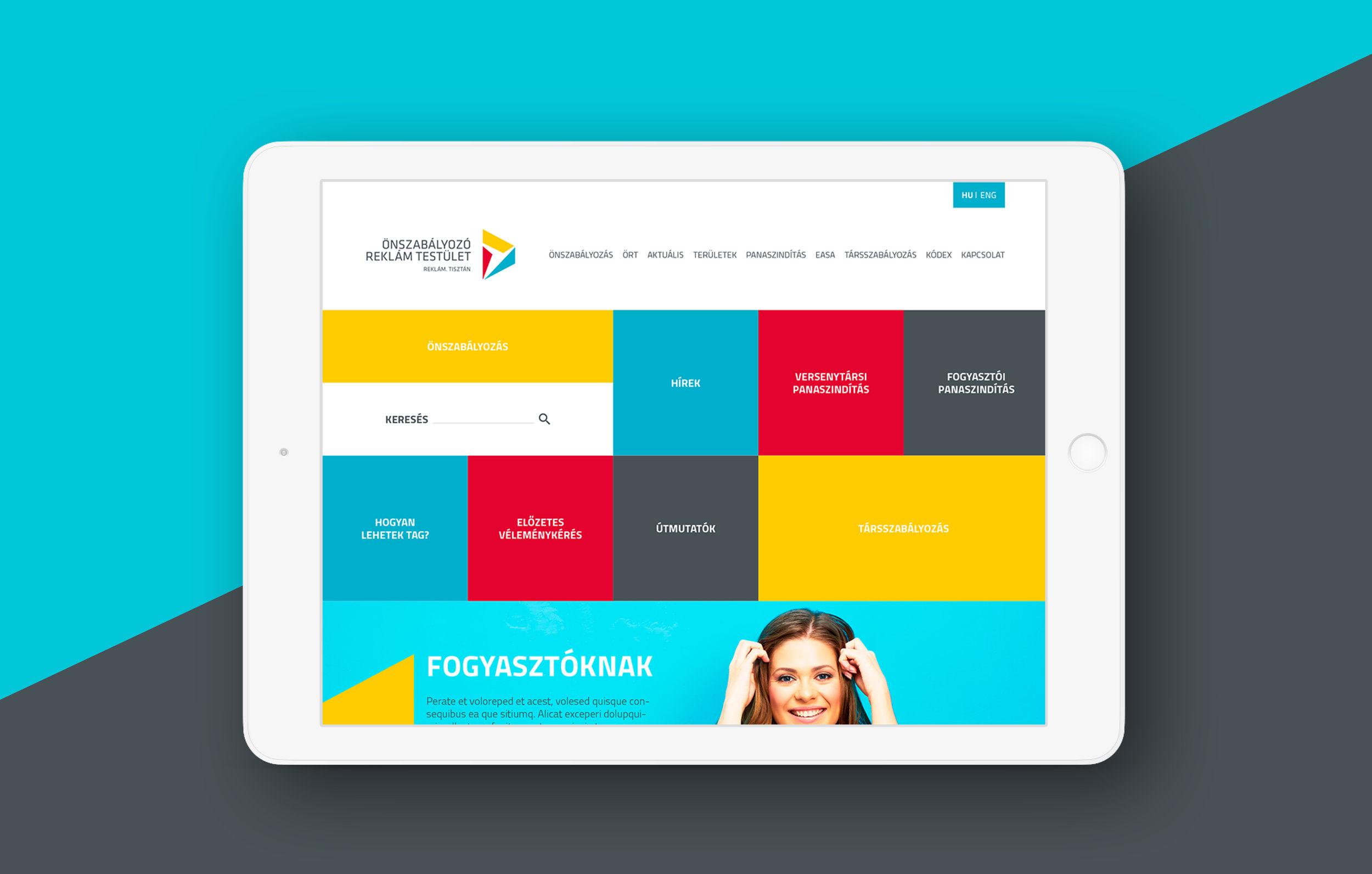 ÖRT webdesign desktop, arculattervezés