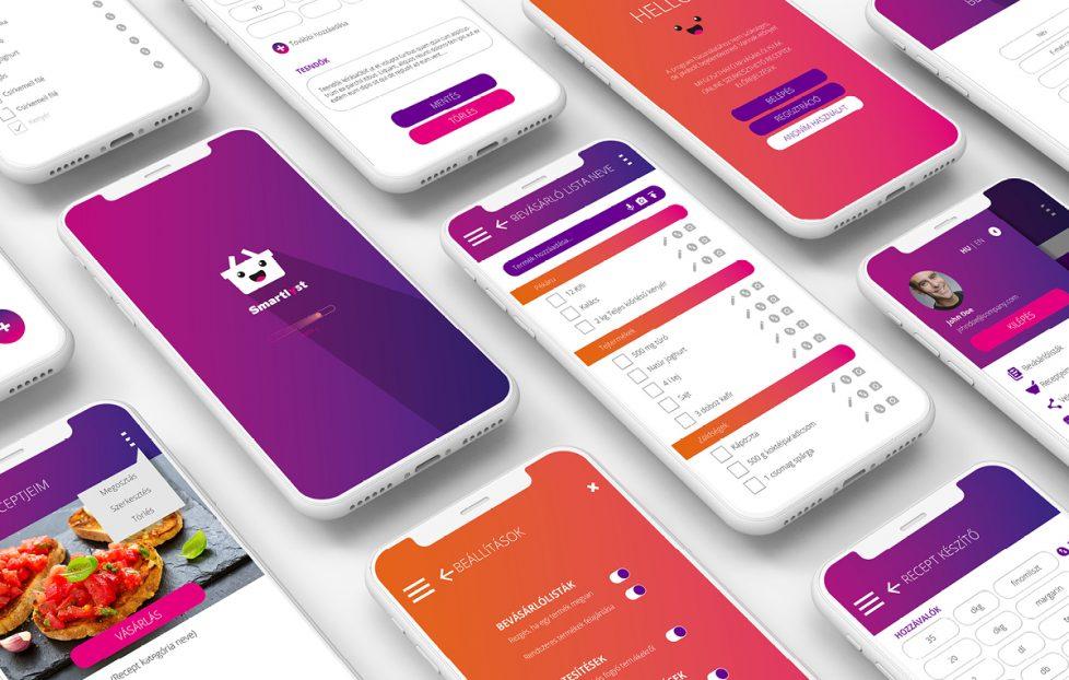 Smartlist applikációdesign webdesign