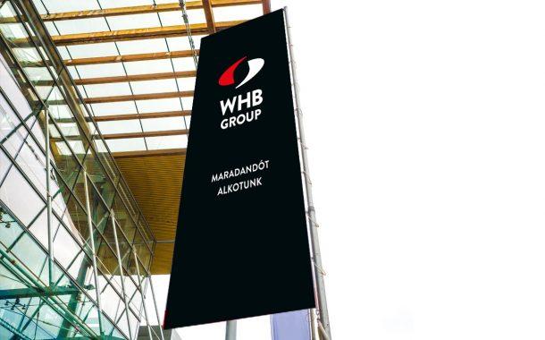 WHB Group arculattervezés zászlódesign