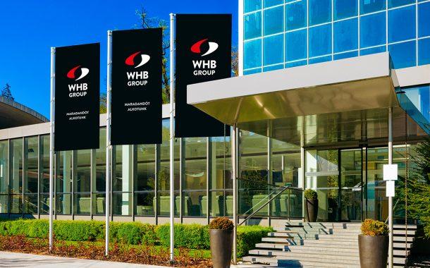 WHB Group arculattervezés zászló design