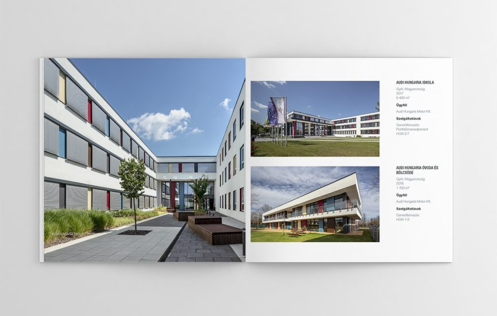 Óbuda Group kiadványtervezés brosúra