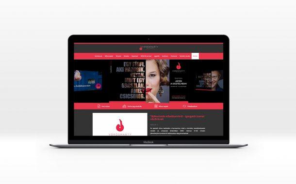 Vörösmarty Színház arculattervezés desktop