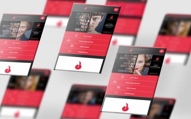 Vörösmarty Színház arculattervezés mobil
