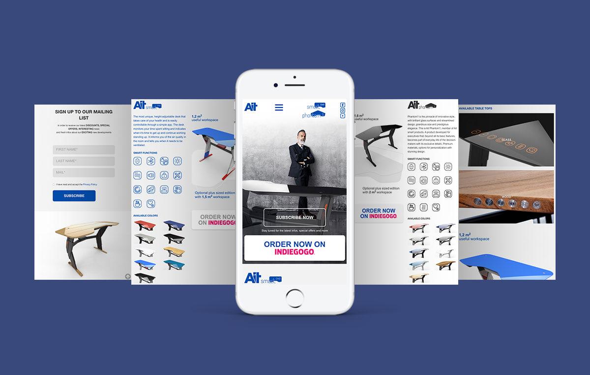 AiT Smart Desks webfejlesztés