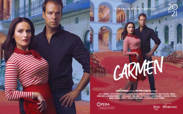 Opera imagekampány plakáttervezés - Carmen