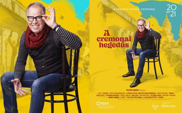 Opera imagekampány plakáttervezés - A cremonai hegedűs