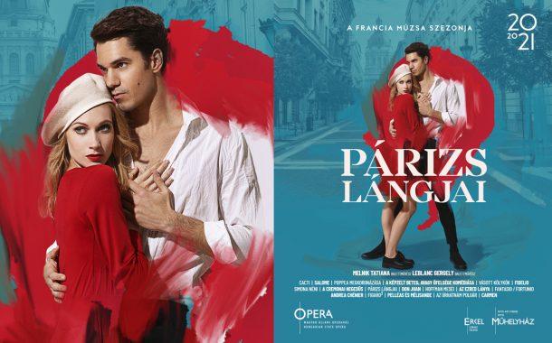 Plakáttervezés, Opera évad 2020/21 imagekampány: Párizs lángjai