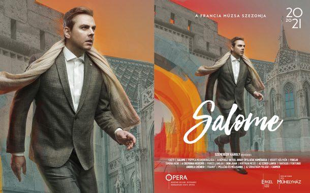 Opera imagekampány plakáttervezés - Salome