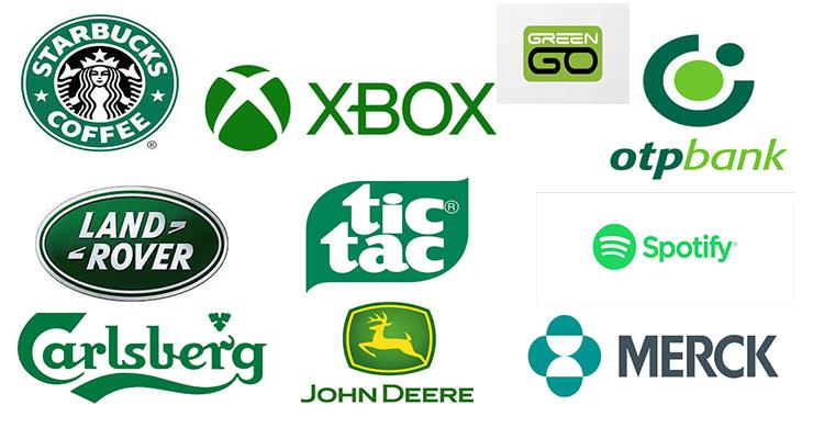 Logók és színek az arculattervezésben - zöld