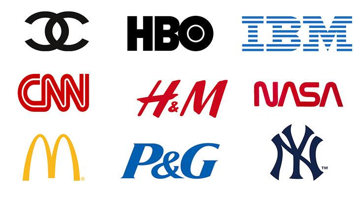 A logók típusai: monogram logók