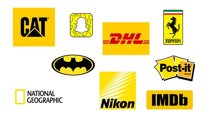 Logók és színek branding - sárga