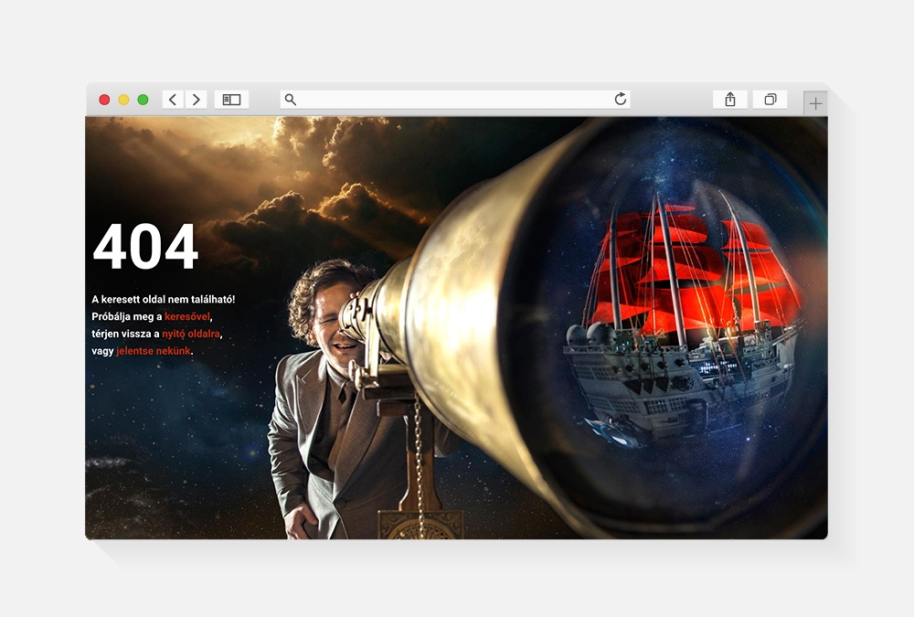 a jó webdesign tervezéshez: 404 oldal